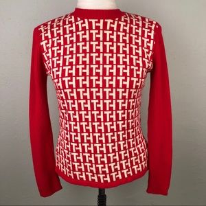Tommy Hilfiger Womens Medium Sweater Red Logo